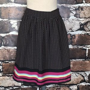 Old Navy Pleated Skirt Black Polka Dots Sm…